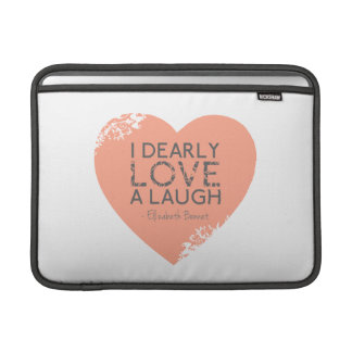 Amo querido una risa - cita de Jane Austen Fundas Macbook Air