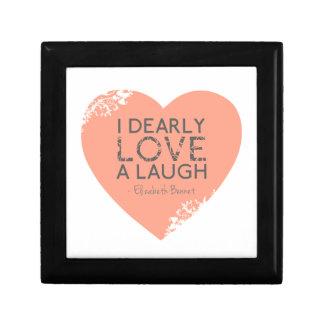 Amo querido una risa - cita de Jane Austen Joyero Cuadrado Pequeño