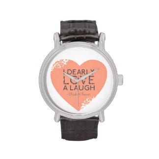 Amo querido una risa - cita de Jane Austen Relojes