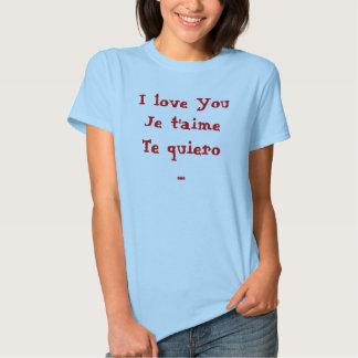 Amo quiero del t'aimeTe de YouJe… Playera