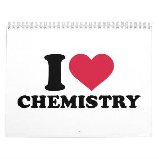Amo química calendarios de pared