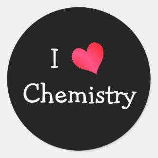Amo química etiquetas redondas