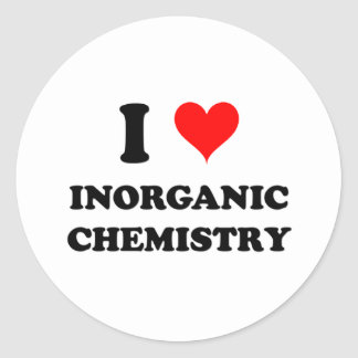 Amo química inorgánica etiquetas redondas