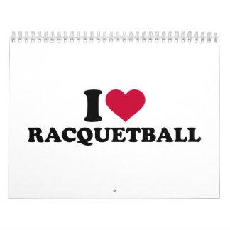Amo Racquetball Calendario De Pared