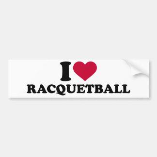Amo Racquetball Pegatina Para Auto