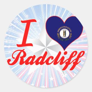 Amo Radcliff, Kentucky Pegatina Redonda