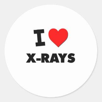 Amo radiografías pegatinas redondas