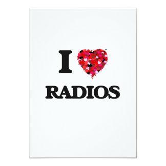 """Amo radios invitación 5"""" x 7"""""""