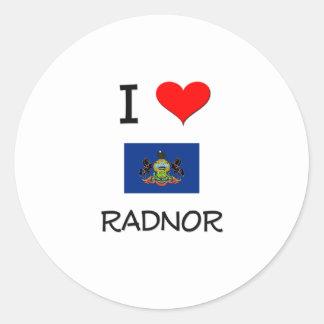 Amo Radnor Pennsylvania Etiquetas Redondas
