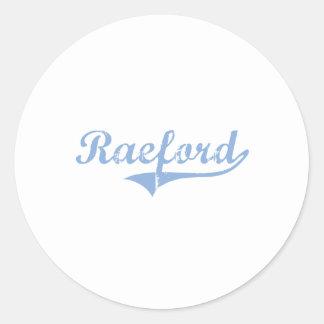 Amo Raeford Carolina del Norte Pegatina Redonda