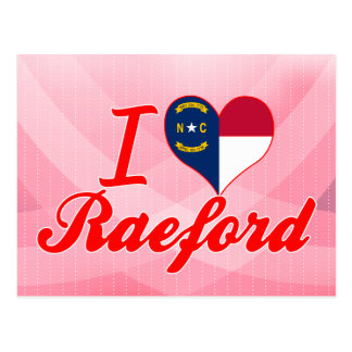 Amo Raeford, Carolina del Norte Tarjeta Postal