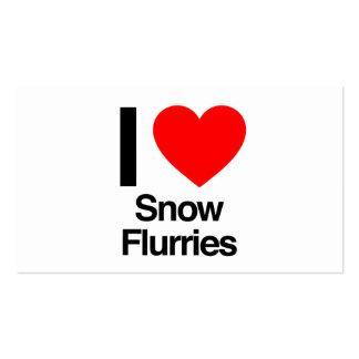 amo ráfagas de nieve tarjetas de visita