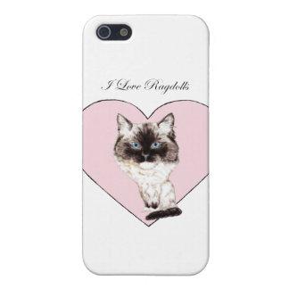 Amo Ragdolls iPhone 5 Protectores