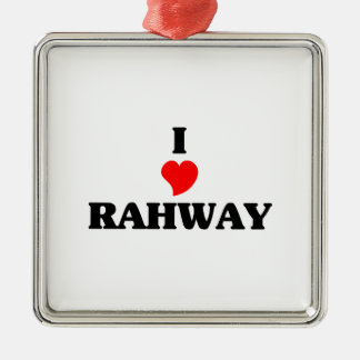 Amo Rahway Adorno Cuadrado Plateado