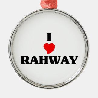 Amo Rahway Adorno Redondo Plateado