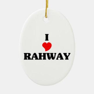 Amo Rahway Adorno Ovalado De Cerámica