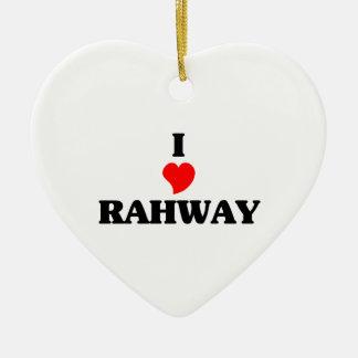 Amo Rahway Adorno De Cerámica En Forma De Corazón