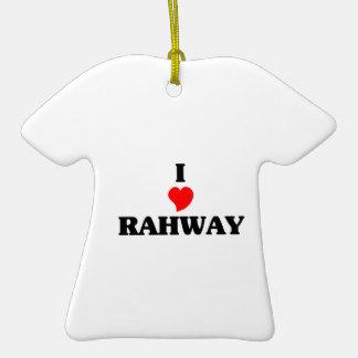 Amo Rahway Adorno De Cerámica En Forma De Camiseta