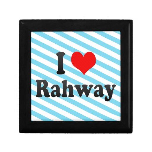 Amo Rahway, Estados Unidos Cajas De Recuerdo