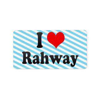 Amo Rahway, Estados Unidos Etiquetas De Dirección