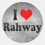 Amo Rahway, Estados Unidos Pegatinas Redondas