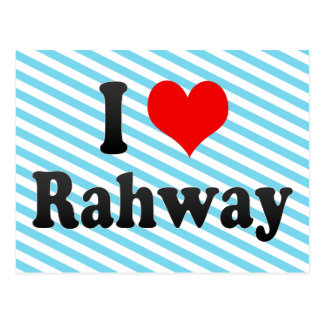 Amo Rahway, Estados Unidos Tarjeta Postal