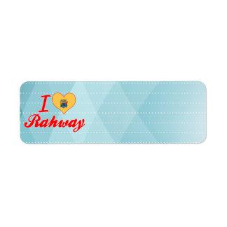 Amo Rahway, New Jersey Etiquetas De Remite