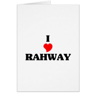Amo Rahway Tarjeta De Felicitación