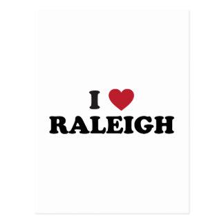 Amo Raleigh Carolina del Norte Postales