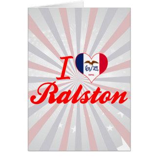 Amo Ralston, Iowa Tarjeta De Felicitación