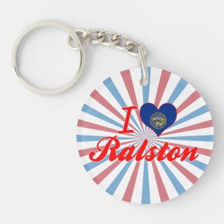 Amo Ralston, Nebraska Llavero Redondo Acrílico A Una Cara