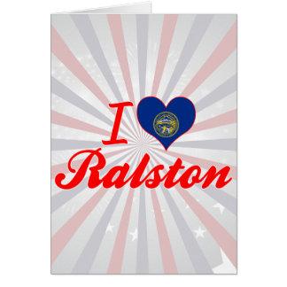 Amo Ralston, Nebraska Tarjeta De Felicitación