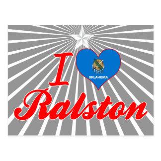 Amo Ralston, Oklahoma Tarjeta Postal