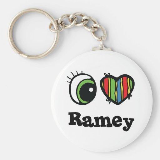 Amo ramey (del corazón) llaveros
