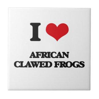 Amo ranas agarradas africano azulejo cuadrado pequeño