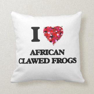 Amo ranas agarradas africano almohadas