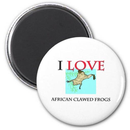 Amo ranas agarradas africano imán redondo 5 cm