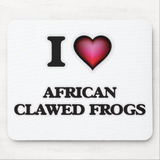 Amo ranas agarradas africano tapetes de ratón