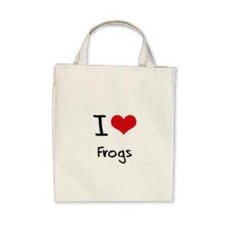 Amo ranas bolsa de mano