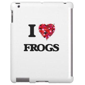 Amo ranas funda para iPad