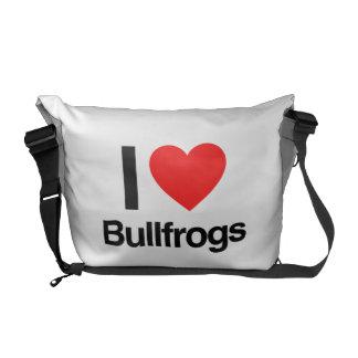 amo ranas mugidoras bolsa de mensajeria