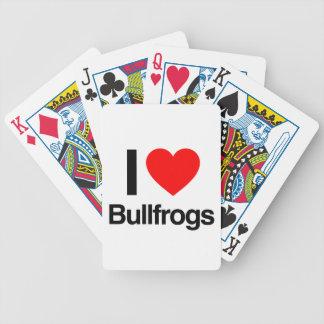 amo ranas mugidoras cartas de juego