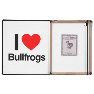 amo ranas mugidoras iPad fundas