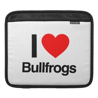 amo ranas mugidoras funda para iPads