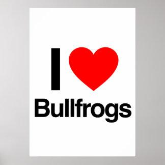 amo ranas mugidoras posters