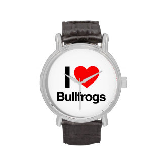 amo ranas mugidoras reloj