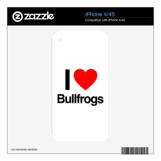 amo ranas mugidoras skins para eliPhone 4S