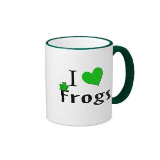 Amo ranas tazas de café