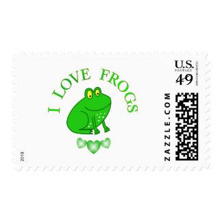 Amo ranas timbres postales