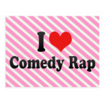 Amo rap de la comedia tarjeta postal